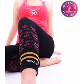 Pantaloni Yoga Hatha Asana Capri Nero