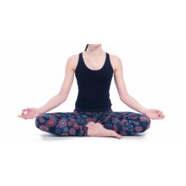 Yoga Leggings Nero con Mandala Stampato