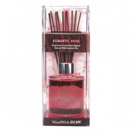 Woodwick Diffusore con Bastoncini+Cristalli Romantic Rose
