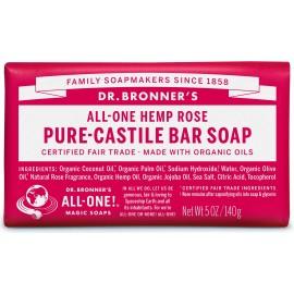 Dr. Bronner's Organico Bar Castiglia Sapone - Rosa
