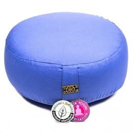 Cuscino meditazione blu cotone organico