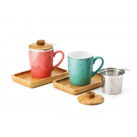 "Mug ""Emmi"" with Bamboo Tray & Lid"