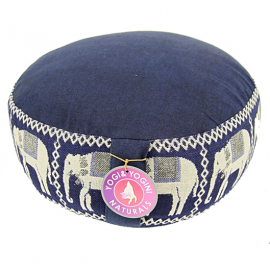 Cuscino Meditazione Blu con Elefanti
