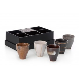 "Cup Set ""Kotarou"" Ceramics, 5 Assorted"