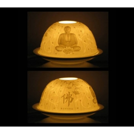 Illuminazione in Porcellana Buddha
