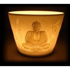 Illuminazione d'atmosfera Votiva in Porcellana - 'Buddha'