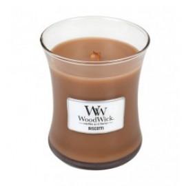 Woodwick Caramel Biscotti Candela Media Jar