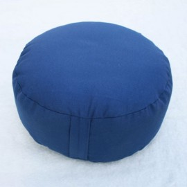 Cuscino classico meditazione rotondo blu scuro