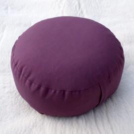 Cuscino classico meditazione rotondo melanzana