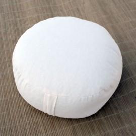 Cuscino classico meditazione rotondo bianco naturale