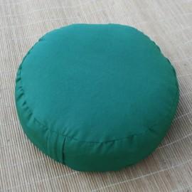 Cuscino classico meditazione rotondo verde scuro