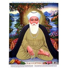 Guru Nanak con Mala Immagine