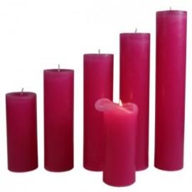 Candele Rosa Scuro - Piccola 17 Cm