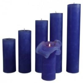 Candele Blu Lavanda - Piccola 17 Cm