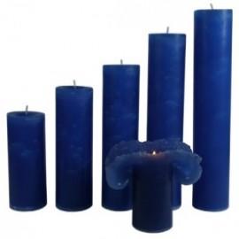 Candele Blu di Savoia - Piccola 17 Cm