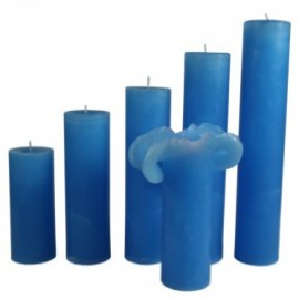 Candele Blu di Cobalto - Piccola 17 Cm