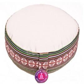 Cuscino meditazione avorio motivo Tribe