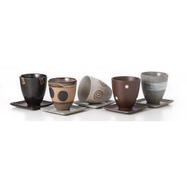 """Tazza da té con Sotto Piatto """"Maruei"""", Ceramica,"""
