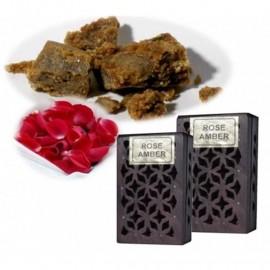 Incenso in resina  Rose/Amber in scatola di legno