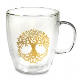 Bicchiere da tè doppia parete Albero della vita