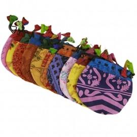 Sacchettino Vintage in seta colori misti