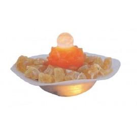 Fontana Fior di Loto Aragonite Arancione con Sfera