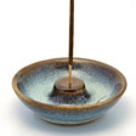 Portaincenso piatto in legno